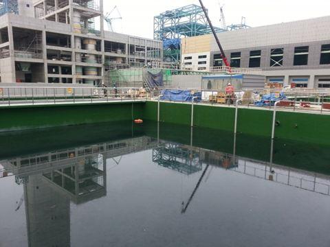 Humidur on concrete ponds in Korea