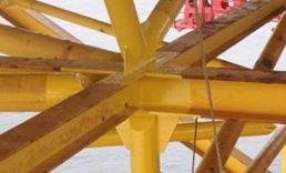 Coating repair support helideck