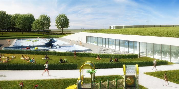 Nieuwe zwembad - Elfde Liniestraat