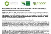 Minister Turtelboom lanceert vandaag het eerste VLEEN-Netwerk