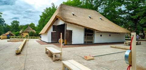 The traditional games barn in the Mol - Zelm barn