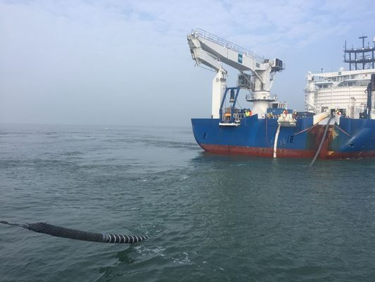 Kabel verbindt offshore windmolenpark Rentel met land